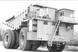 The dump truck with payload capacity of 280 tonnes
