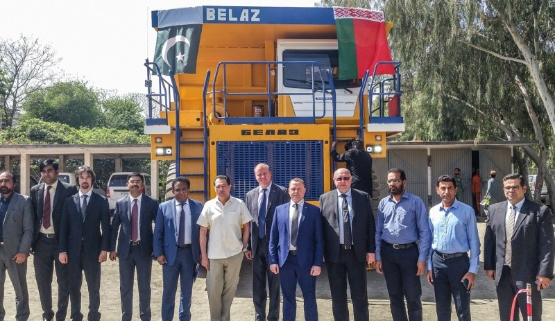 first mining dump truck supplied to Pakistan