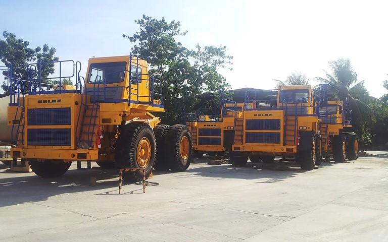 First supply of 55MT BELAZ dump trucks to the Philippines